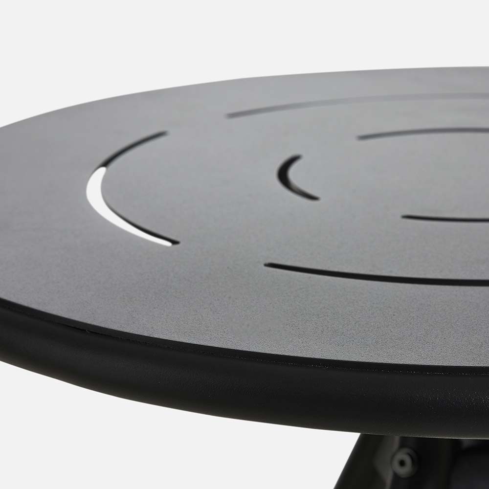 Ray Round café table charcoal black Woud