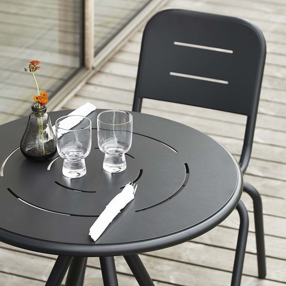 Ray Round café table rose pink Woud