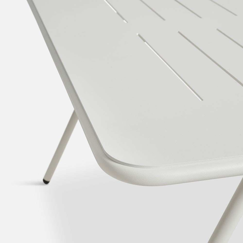 Table à manger Ray blanc 140 cm Woud