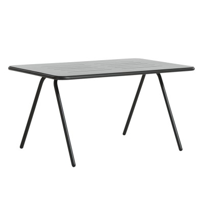 Ray dining table charcoal black 140 cm Woud