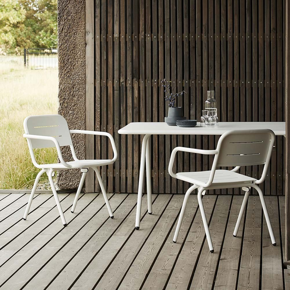 Ray dining table white 160 cm Woud