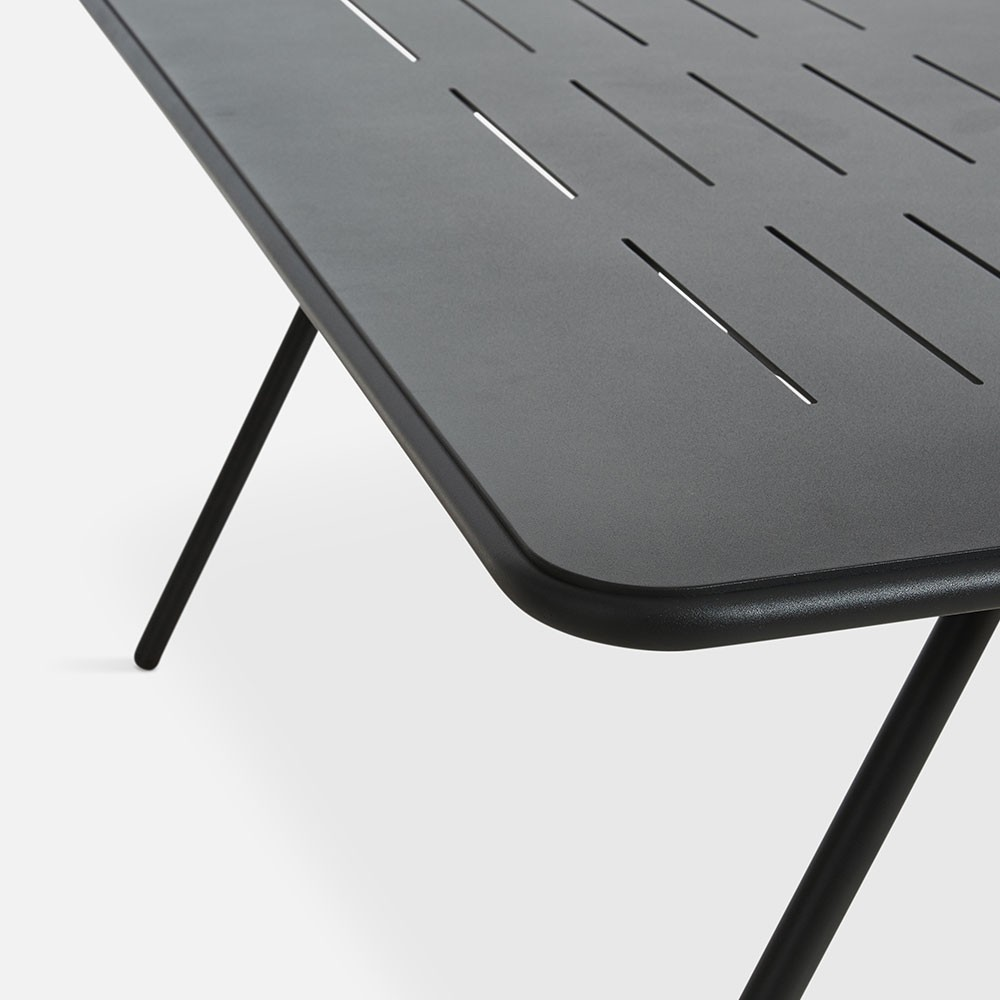Ray dining table charcoal black 160 cm Woud