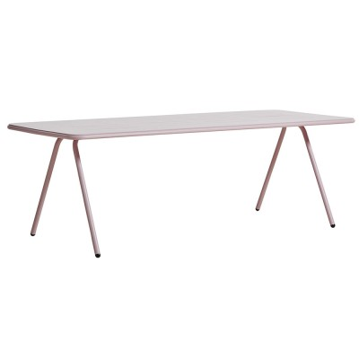 Ray dining table rose pink 220 cm Woud