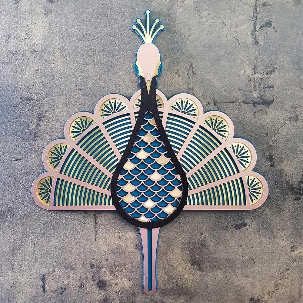 The Peacock wall decoration Umasqu