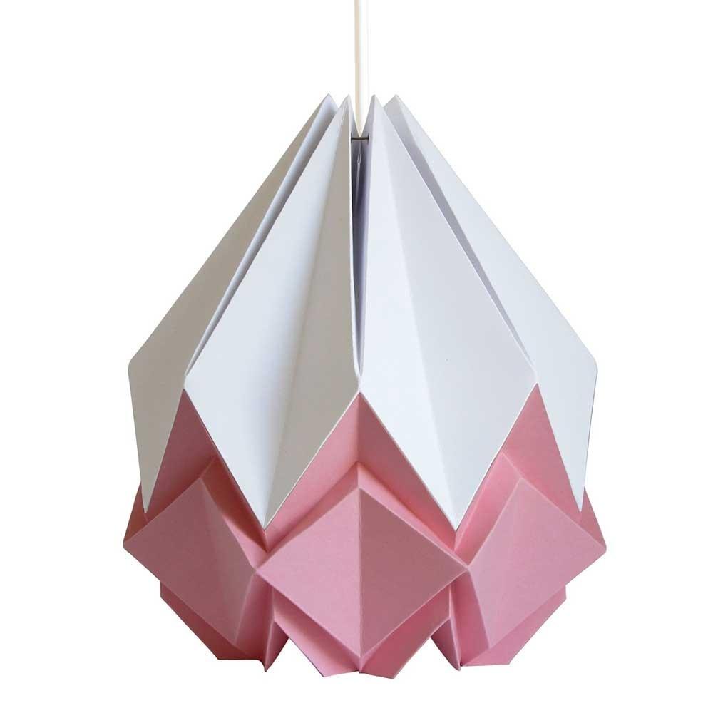 Hanahi hanglamp wit & roze papier Tedzukuri Atelier