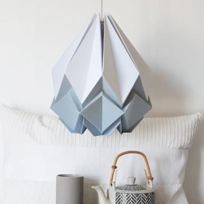 Hanahi pendant lamp paper white & grey Tedzukuri Atelier