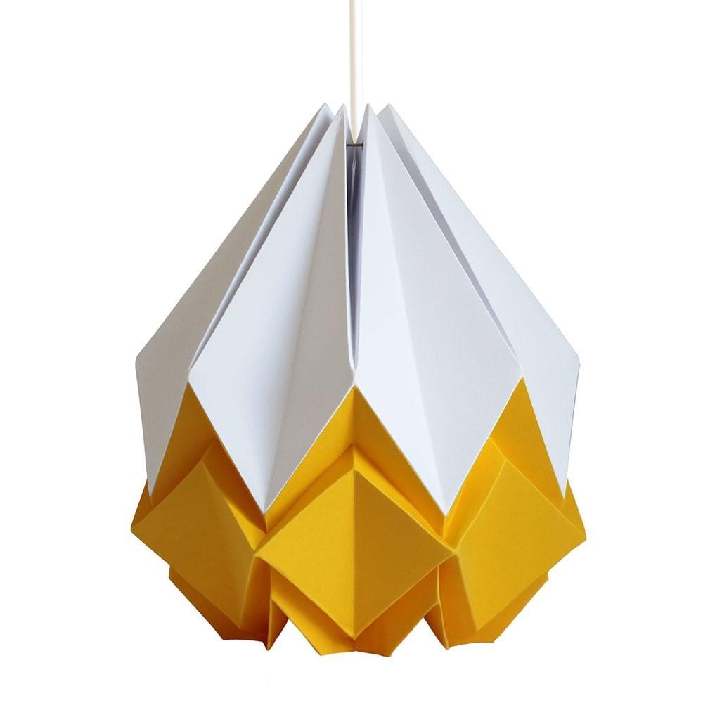 Hanahi hanglamp wit & goudgeel papier Tedzukuri Atelier