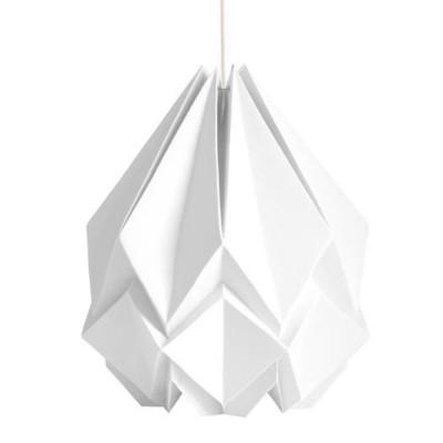 Suspension Hanahi papier blanc Tedzukuri Atelier