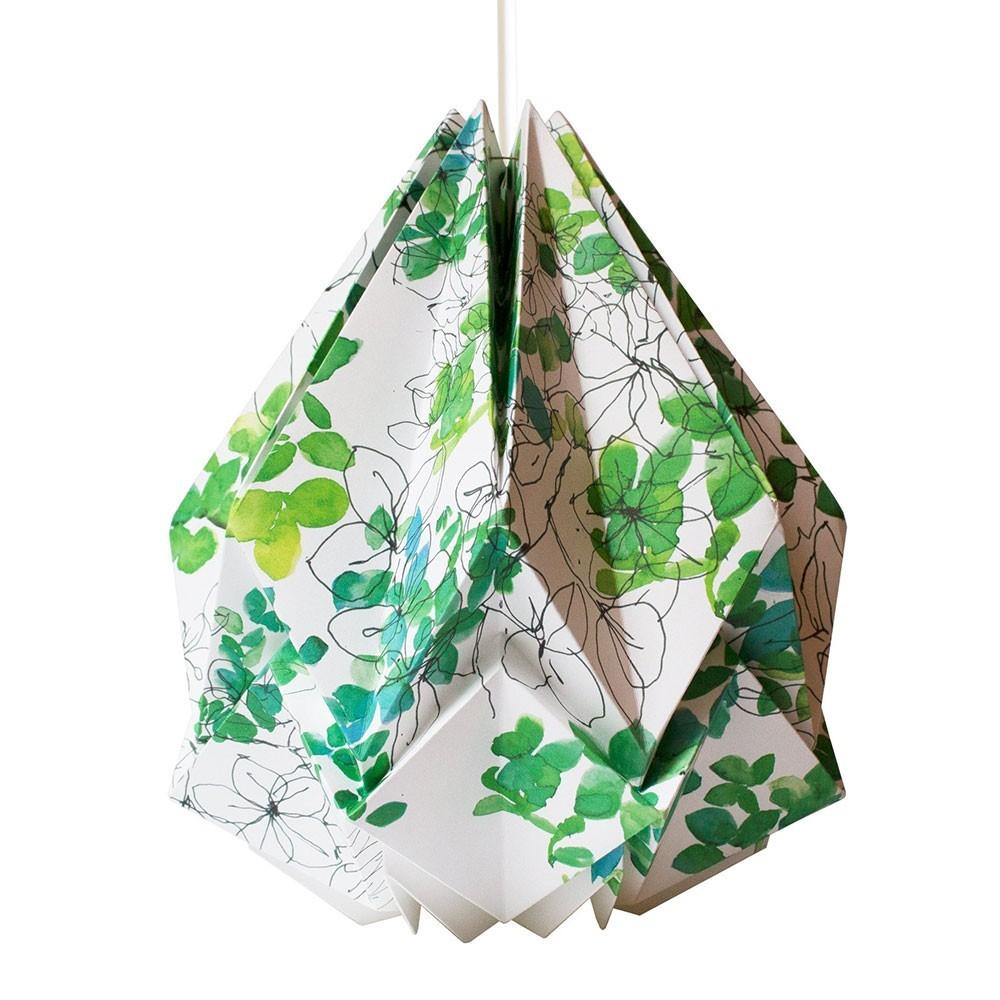 Suspension Hanahi papier motif printemps Tedzukuri Atelier
