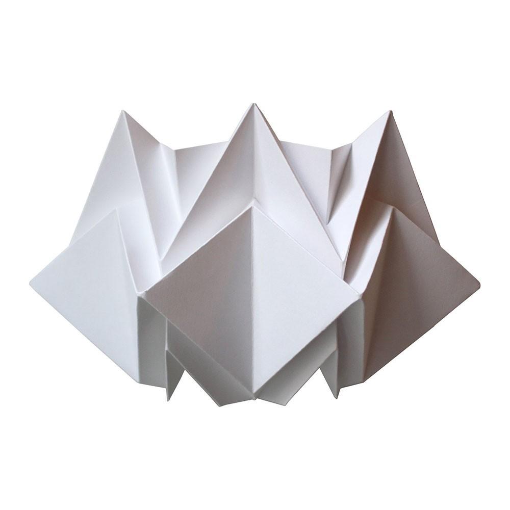 Kabe wit papieren wandlamp Tedzukuri Atelier