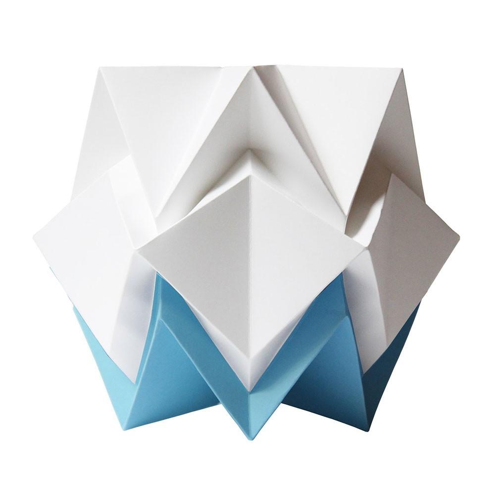 Hikari tafellamp wit & hemelsblauw papier Tedzukuri Atelier