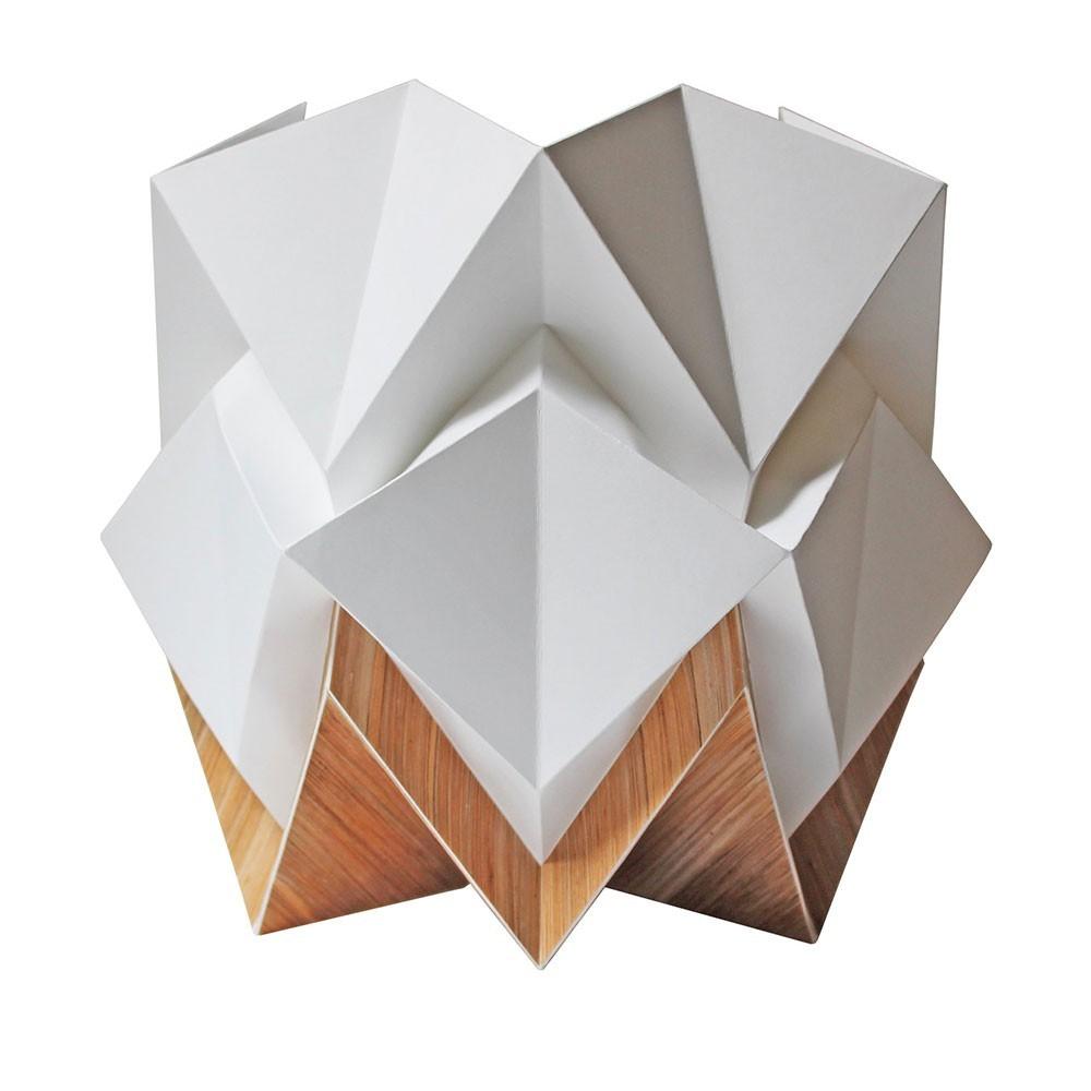 Hikari table lamp paper white & wood Tedzukuri Atelier