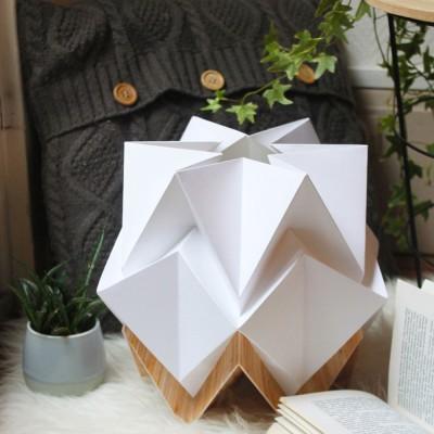 Hikari tafellamp wit papier & hout Tedzukuri Atelier