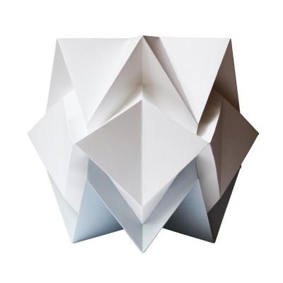 Lampe à poser Hikari papier blanc & gris Tedzukuri Atelier