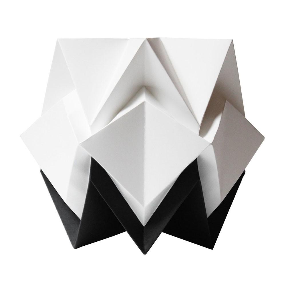 Hikari tafellamp wit & zwart papier Tedzukuri Atelier