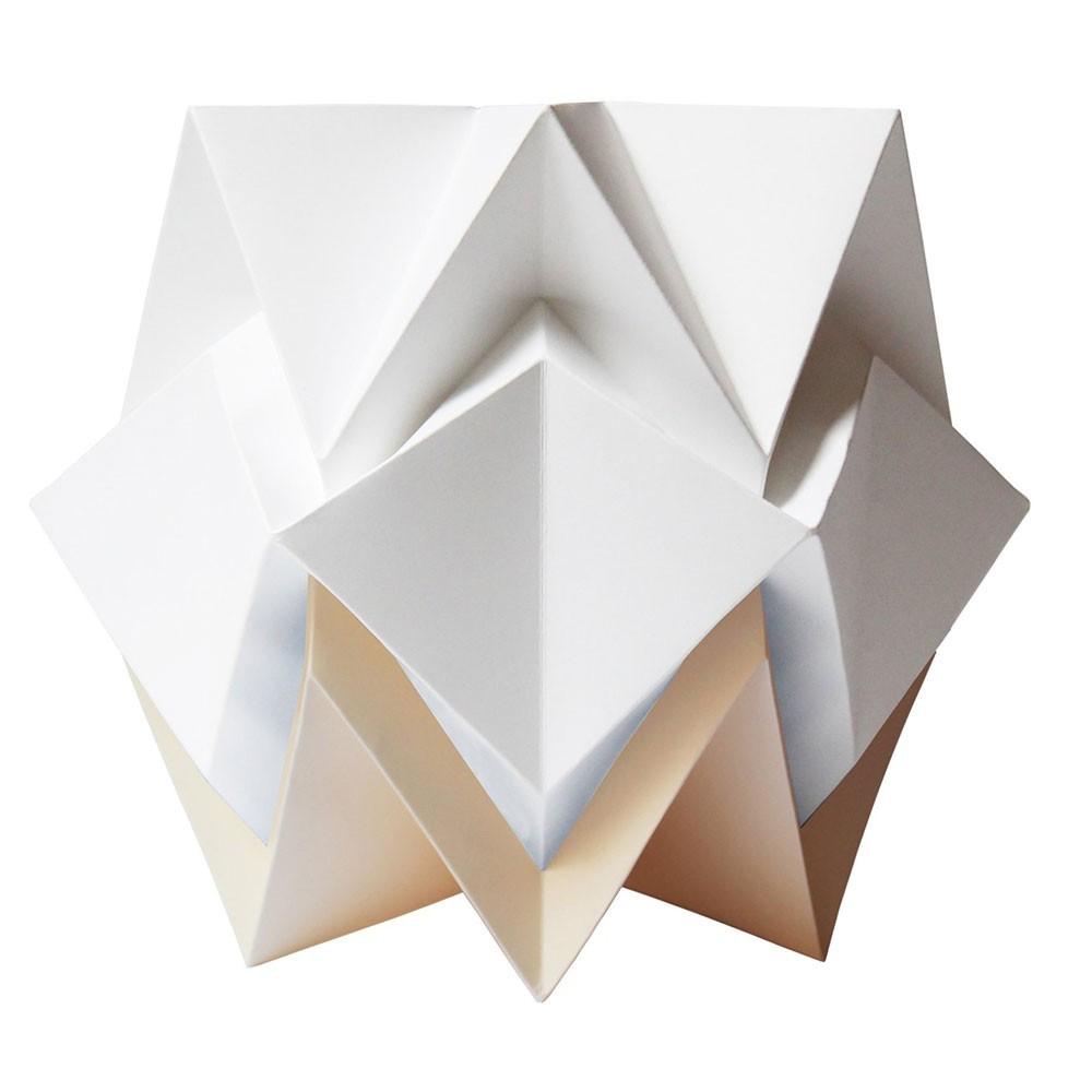 Lampe à poser Hikari papier blanc & vanille Tedzukuri Atelier