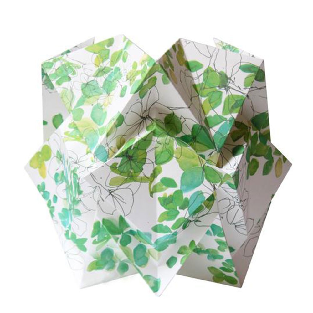 Hikari table lamp paper spring pattern Tedzukuri Atelier