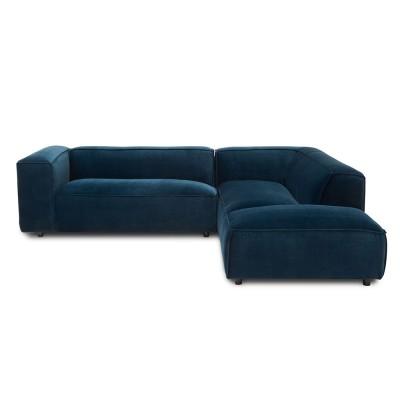 Dunbar sofa 3 seaters with longchair Royal 56 Petrol Fést