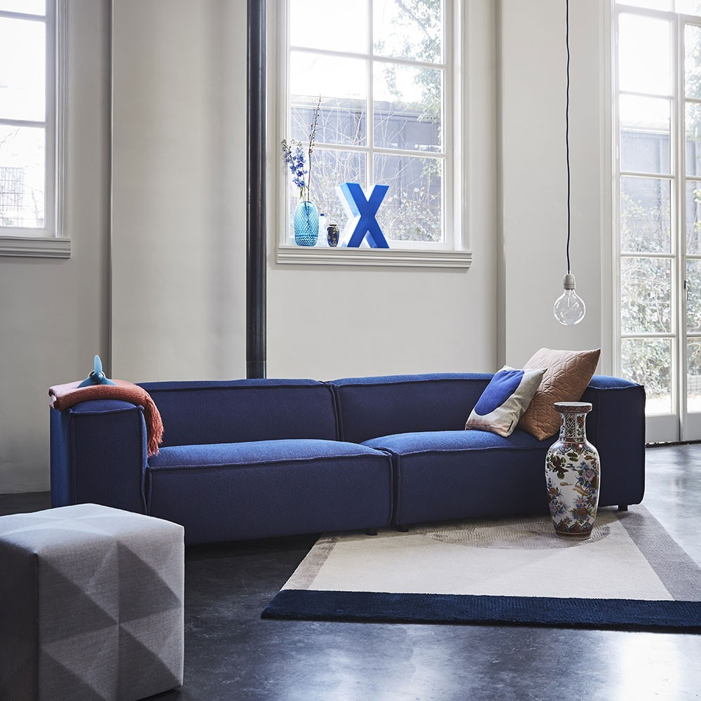 Dunbar sofa 2,5 seaters with longchair Polvere 21 Beige Fést