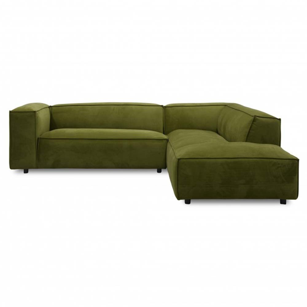 Dunbar sofa 3 seaters with longchair Adore 59 Moss Fést