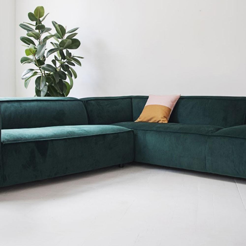 Dunbar 3-zitsbank met chaise longue Juke 162 Forest Fést