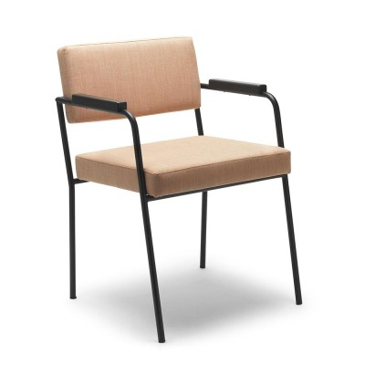 Monday chair with arms Kvadrat Remix 2 - 612 Fést