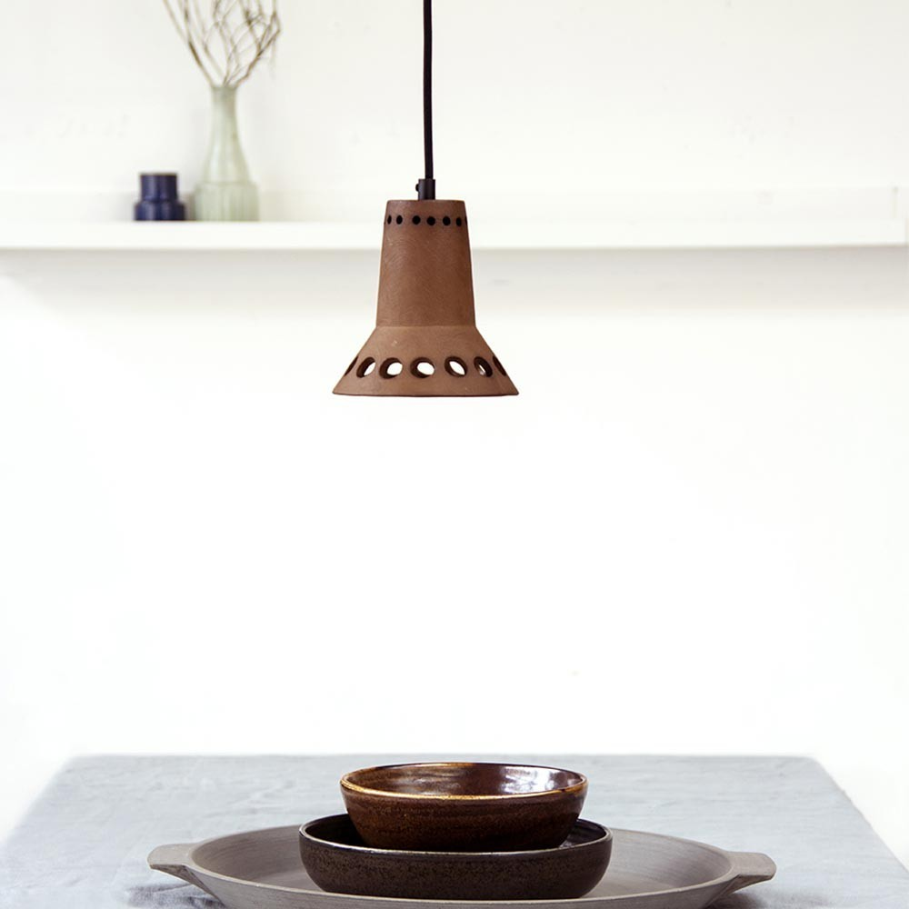 Terracotta pendant lamp 3 HKliving