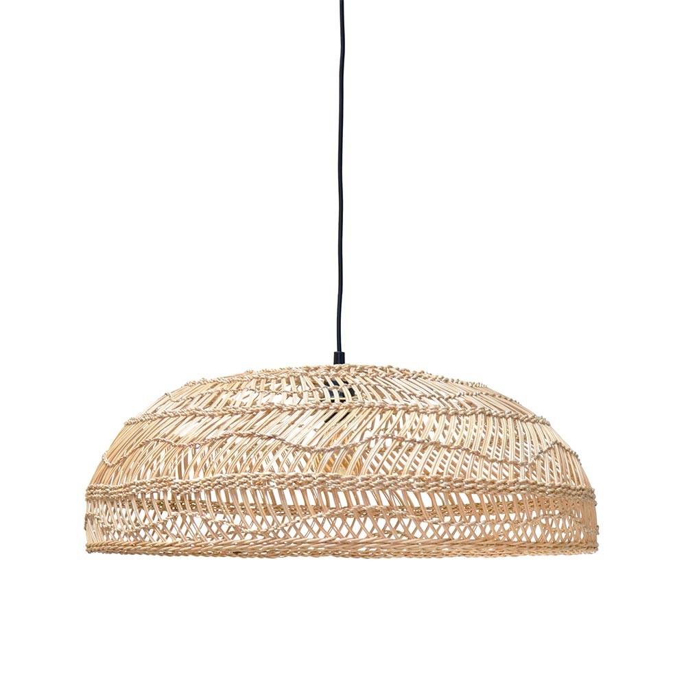 Wicker pendant lamp flat natural HKliving