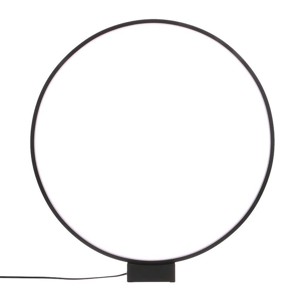 Zwarte ronde tafellamp HKliving