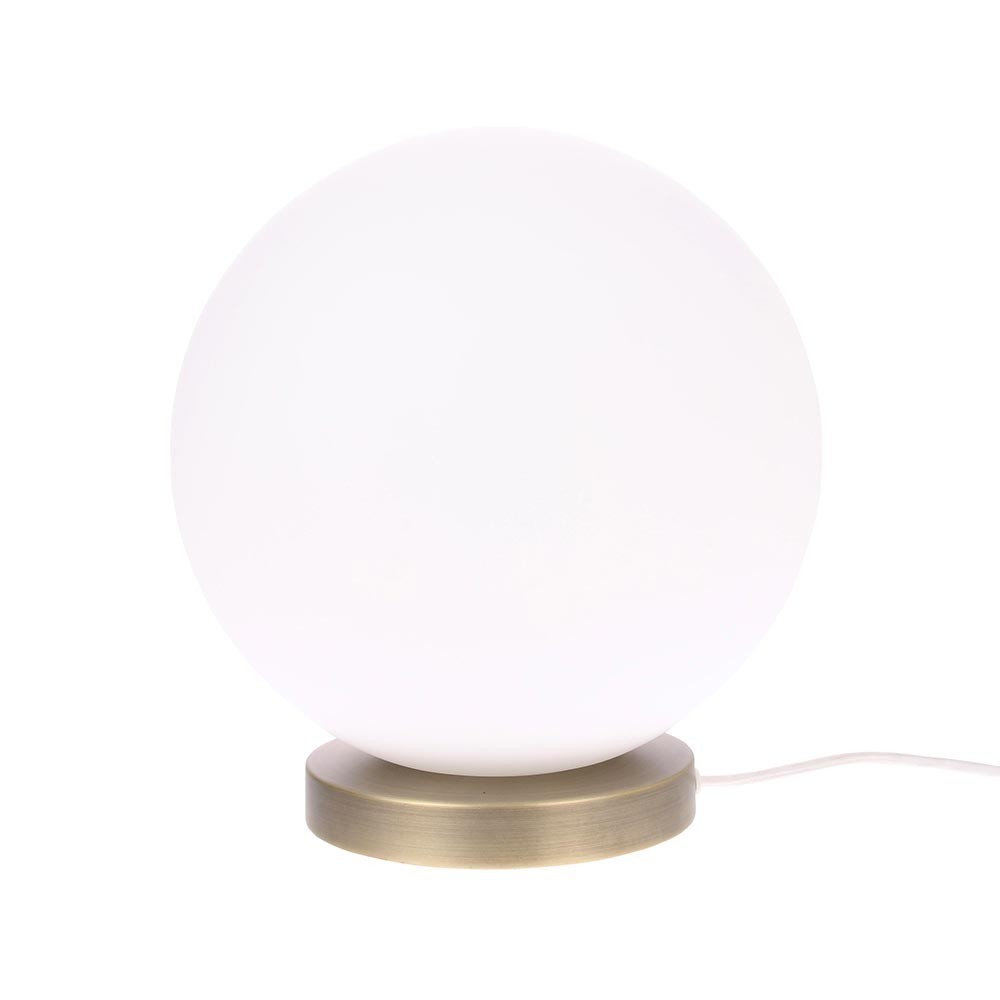 Glass ball lamp white L HKliving