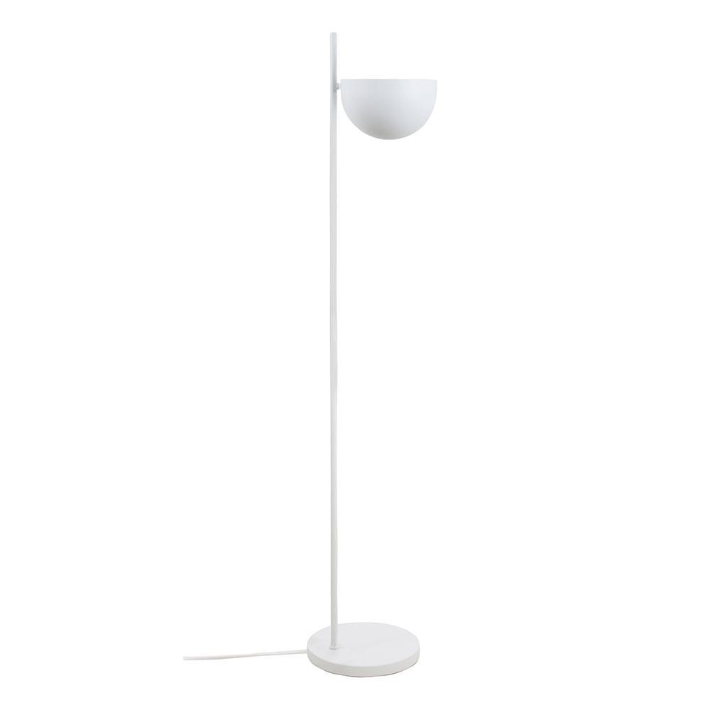 Metal floor lamp ball shade matt white HKliving