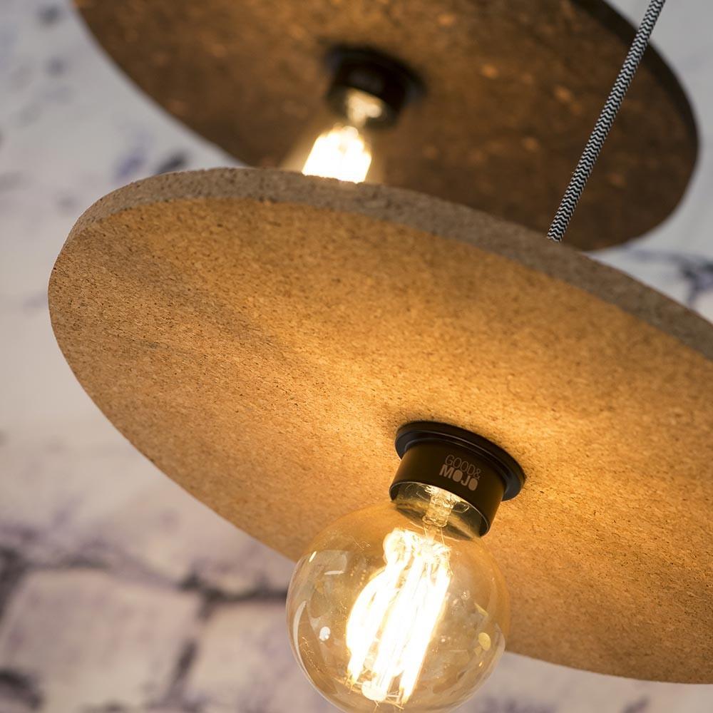 Algarve pendant lamp in cork natural Good & Mojo
