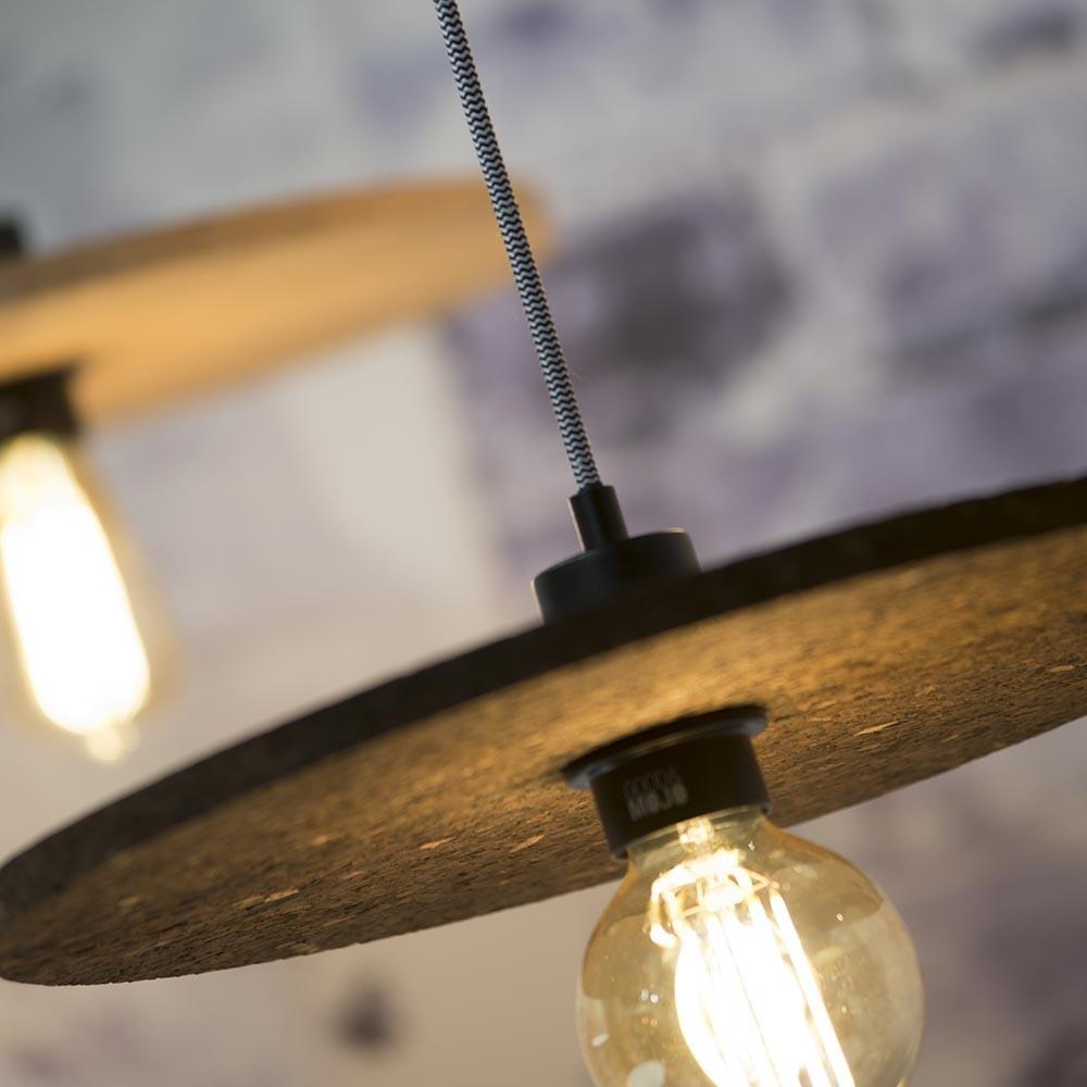 Algarve pendant lamp in cork dark brown Good & Mojo