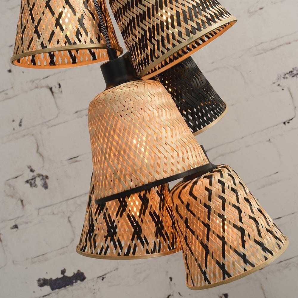 Hanglamp 7 kappen Kalimantan Good & Mojo