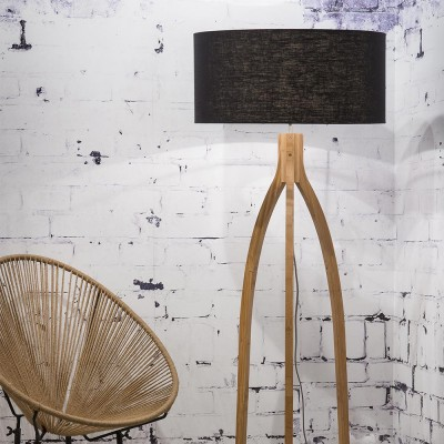 Annapurna floor lamp linen black Good & Mojo