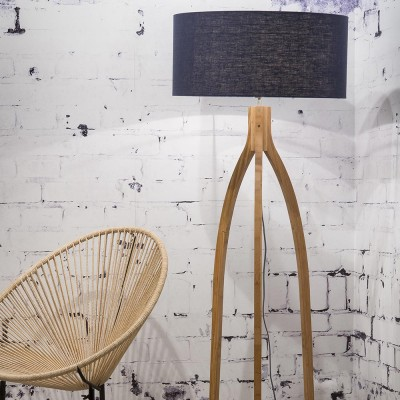 Annapurna floor lamp linen blue Good & Mojo