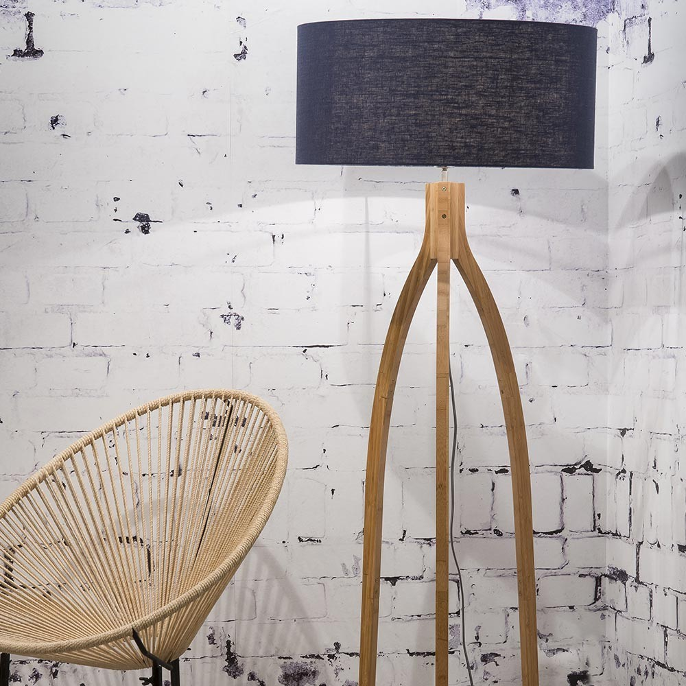 Annapurna floor lamp linen blue Good & Mojo