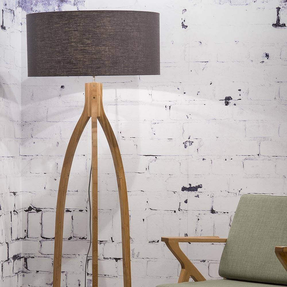 Annapurna floor lamp linen dark grey Good & Mojo