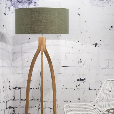 Annapurna floor lamp linen green forest Good & Mojo