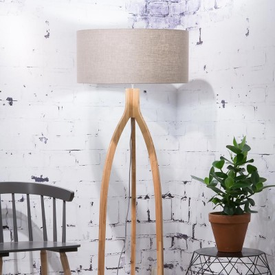 Annapurna floor lamp linen dark Good & Mojo