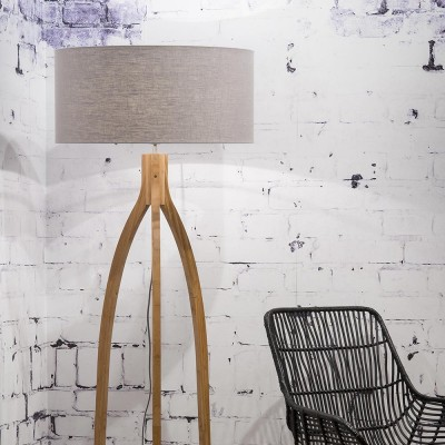 Annapurna floor lamp linen light grey Good & Mojo
