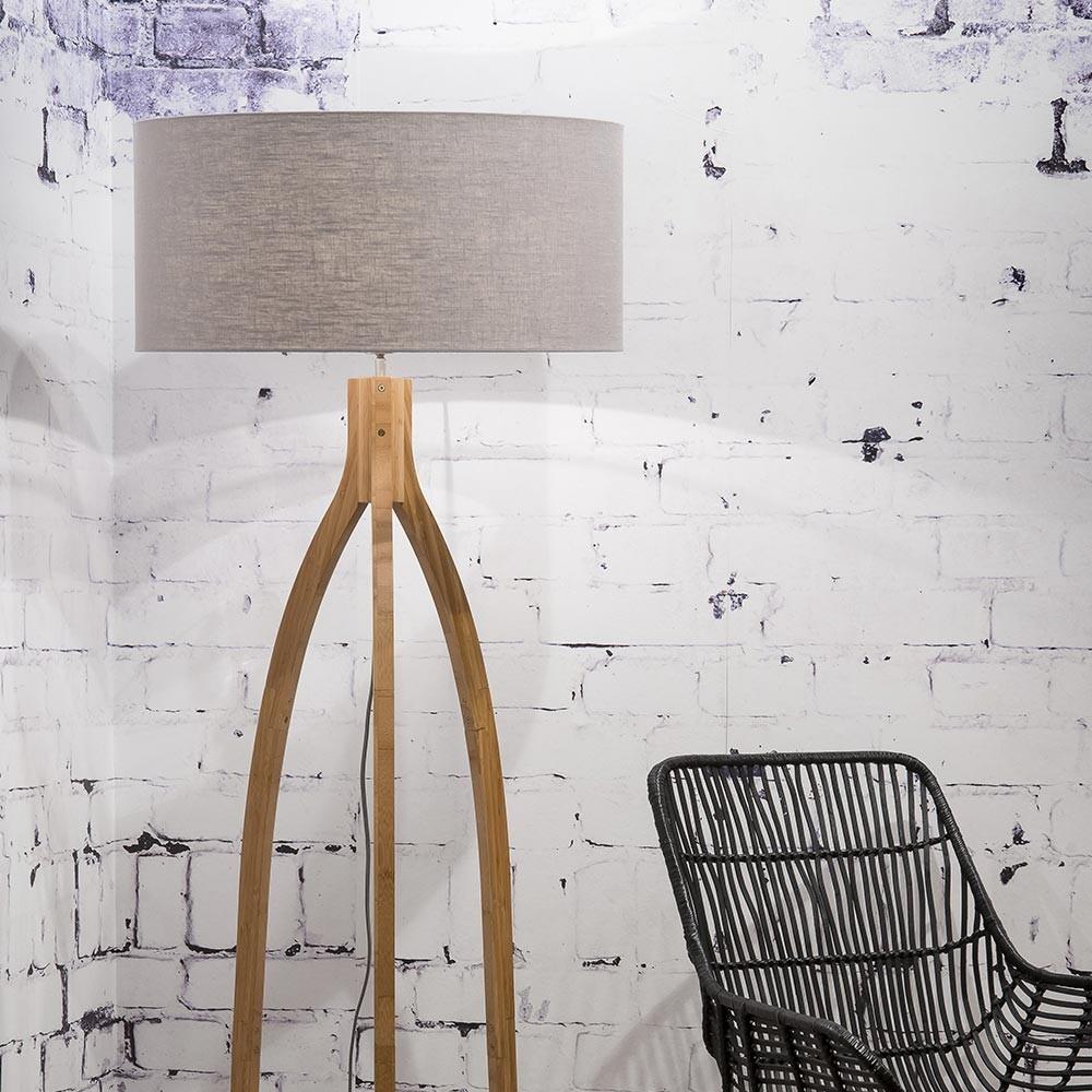 Annapurna floor lamp linen light grey Good & Mojo
