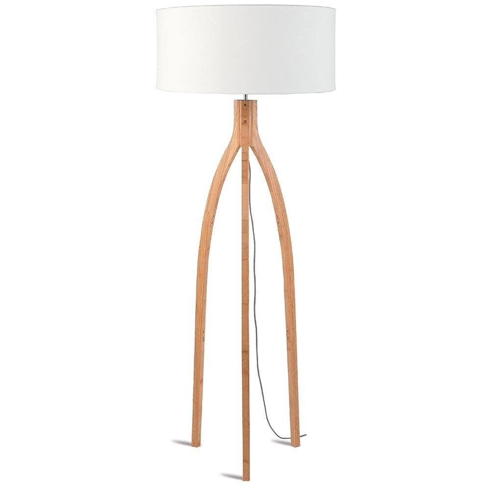 Annapurna floor lamp linen white Good & Mojo