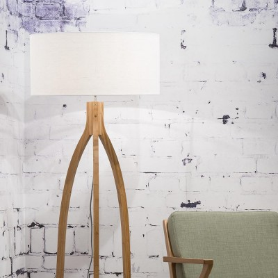 Annapurna floor lamp linen white Good & Mojo