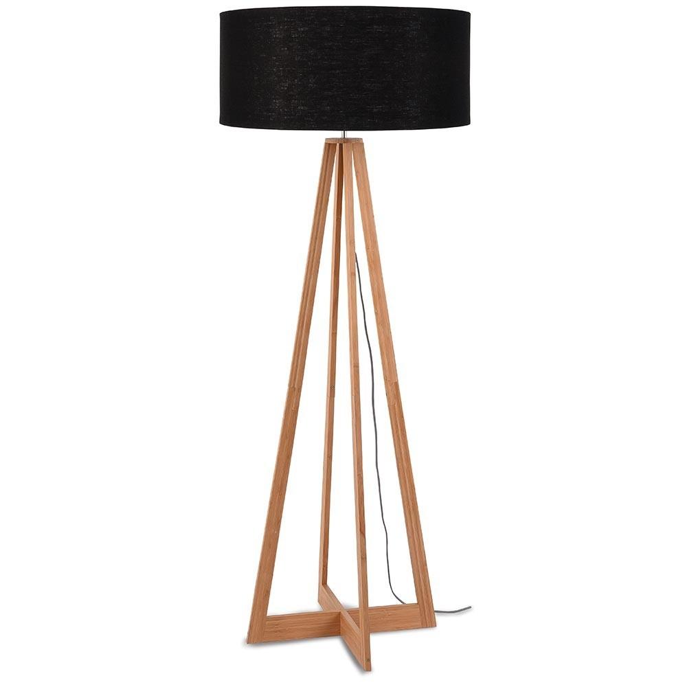 Everest floor lamp linen black Good & Mojo