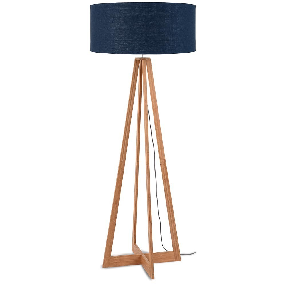 Everest floor lamp linen denim blue Good & Mojo