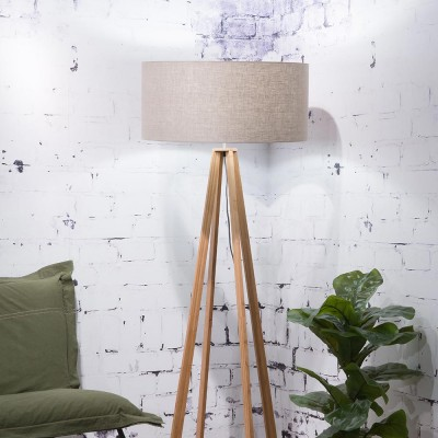 Everest floor lamp linen dark Good & Mojo