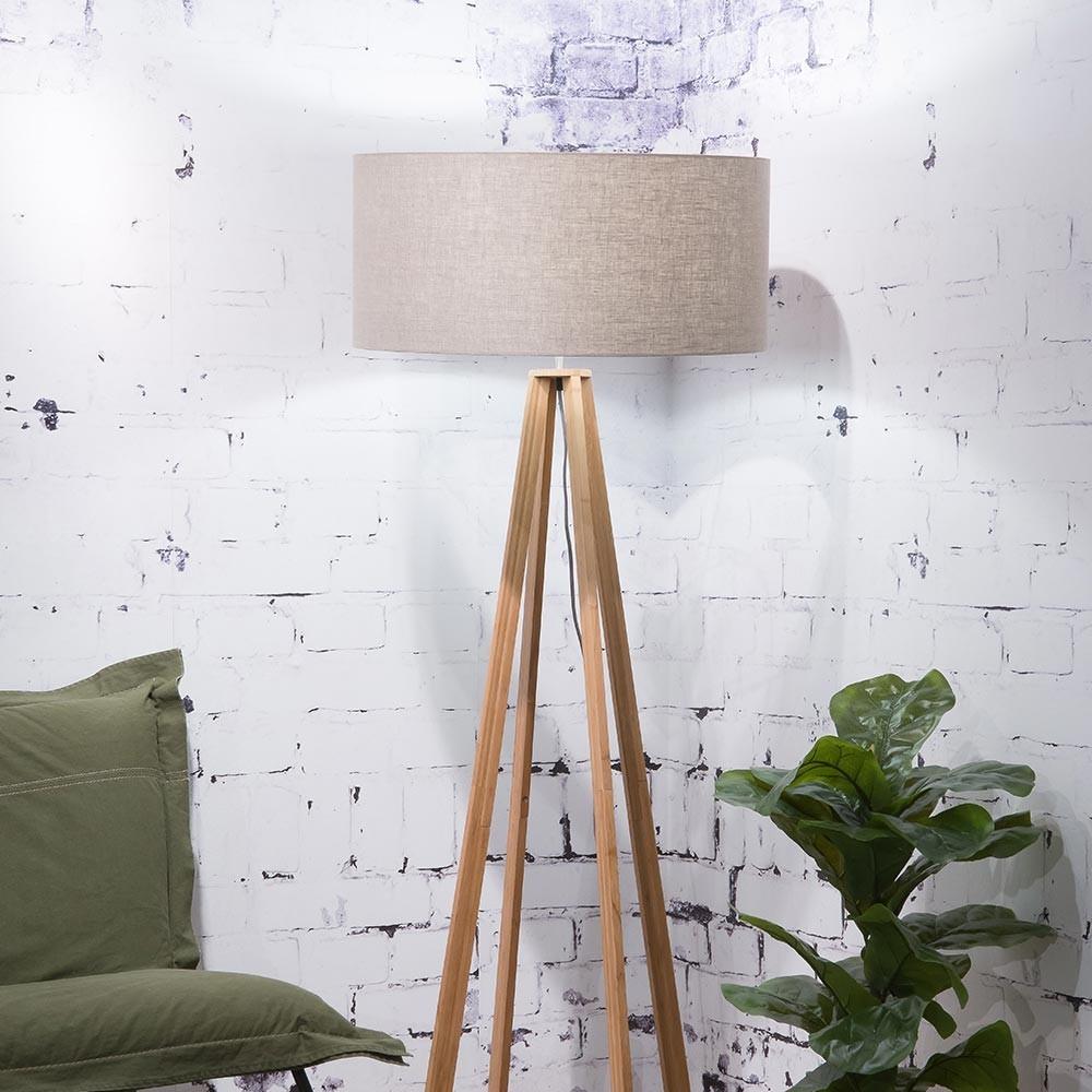 Everest floor lamp linen dark Good & Mojo