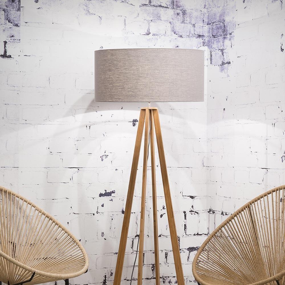 Everest floor lamp linen light grey Good & Mojo