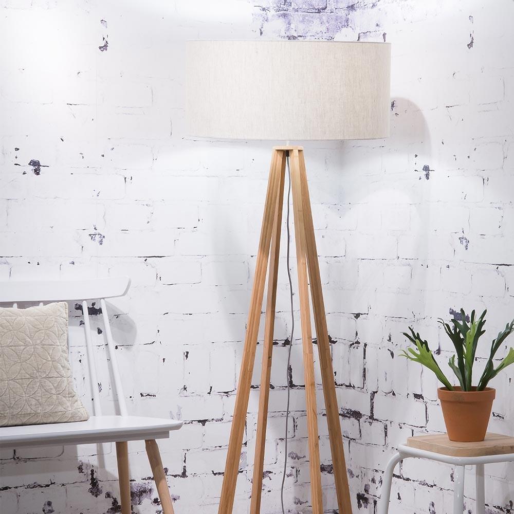 Everest floor lamp linen light Good & Mojo